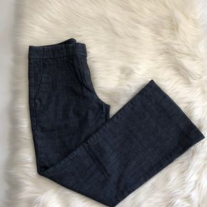 $168 Theory Cotton Blend Flare Jeans